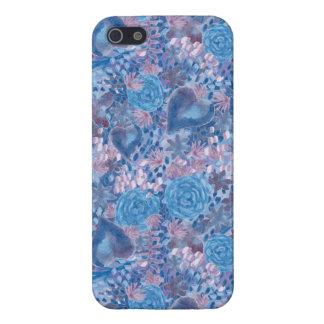 iPhone 5 Funda Watercolor in blues