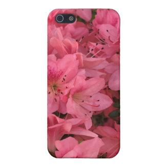 iPhone 5 Fundas Arbusto floreciente rosado brillante