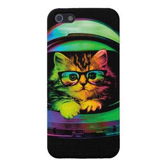 iPhone 5 Fundas Gato del inconformista - astronauta del gato -
