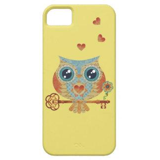 iPhone 5 pájaros del corazón del búho iPhone 5 Funda
