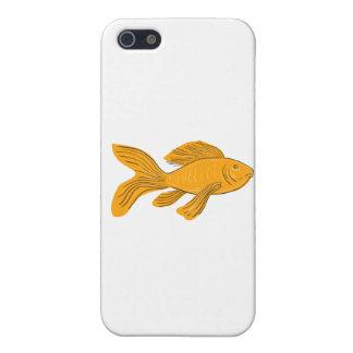 iPhone 5 Protector Dibujo de la natación de Koi de la mariposa del