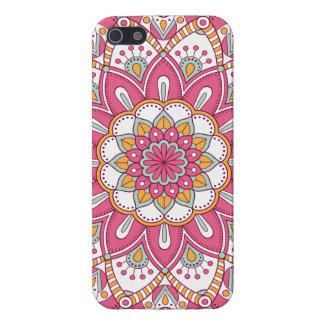 iPhone 5 Protector Diseño floral rosado hermoso