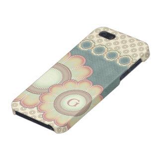 iPhone 5 Protector El arte popular en colores pastel florece el
