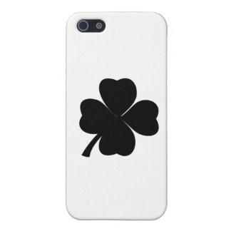iPhone 5 Protector Irlandés afortunado del trébol negro el | trébol