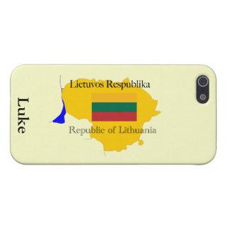 iPhone 5 Protector República del mapa y de la bandera de Lituania