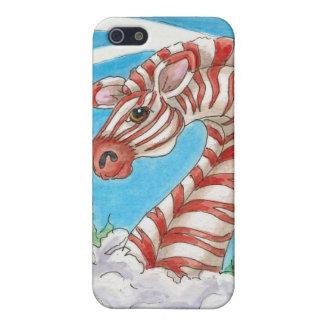iPhone 5 Protectores Arte del bastón de caramelo de la cebra de la