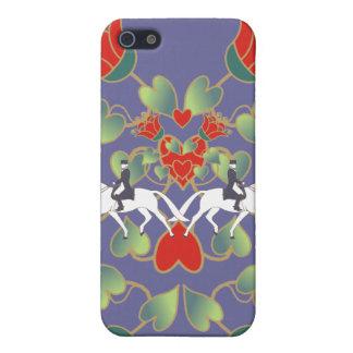 iPhone 5 Protectores Corazones y flores del Dressage