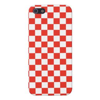 iPhone 5 Protectores Tablero de damas rojo