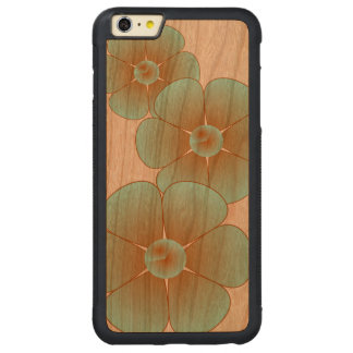 iPhone 6/6s de 3 flores más el caso Funda Para iPhone 6 Plus De Carved® De Cerezo