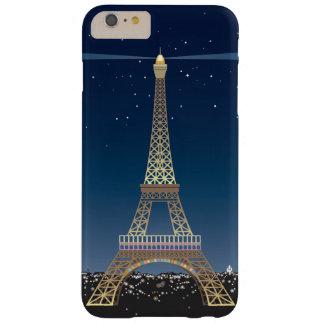 iPhone 6/6S de la torre Eiffel más el caso de Funda Barely There iPhone 6 Plus