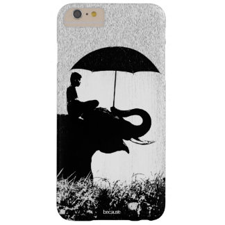 iPhone 6/6s del arte de la lluvia del elefante más Funda Barely There iPhone 6 Plus