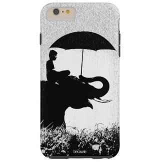 iPhone 6/6s del arte de la lluvia del elefante más Funda Resistente iPhone 6 Plus