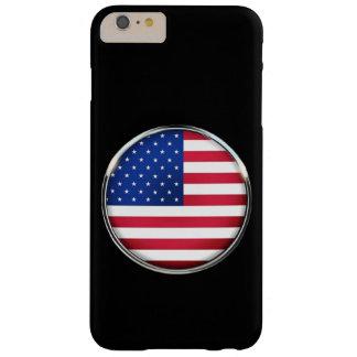 iPhone 6/6S del botón de la bandera de los Funda Barely There iPhone 6 Plus