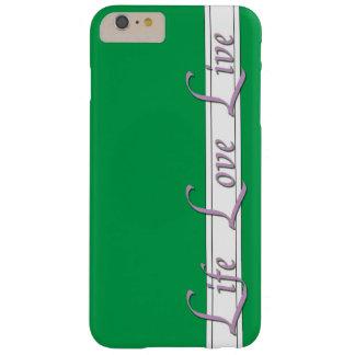 iphone 6/6s más estilo de vida del verde del caso funda barely there iPhone 6 plus