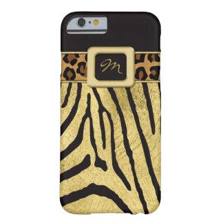 iPhone 6 FALSOS estampados de animales de la hoja Funda De iPhone 6 Barely There