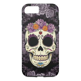 iPhone 7 del cráneo y de los rosas del vintage Funda Para iPhone 8/7