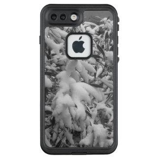 Iphone 7 hojas en la nieve