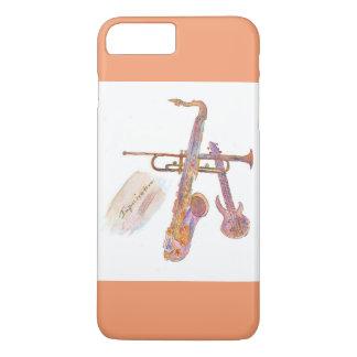 iPhone 7 más, Barely There con el pict del jazz Funda iPhone 7 Plus
