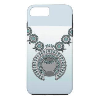 iPhone 7 más, caja dura del teléfono - FLOR SQ de Funda iPhone 7 Plus