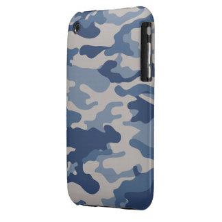 iPhone azul 3G/3GS de la casamata de Camo iPhone 3 Case-Mate Protectores