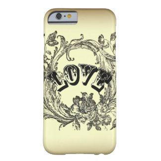 iPhone beige 6 c de la moda de París del amor del Funda De iPhone 6 Barely There