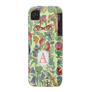 Iphone bordado del modelo del vintage del iPhone 4/4S carcasa