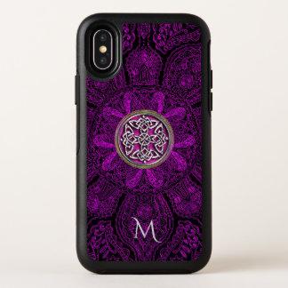 iPhone céltico X de Otterbox del monograma de la