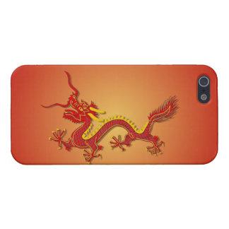 iPhone chino 5/5S del Año Nuevo del dragón del roj iPhone 5 Protectores