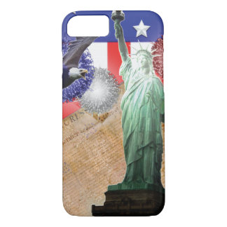 iPhone de la bandera americana 7 fuegos Funda iPhone 7