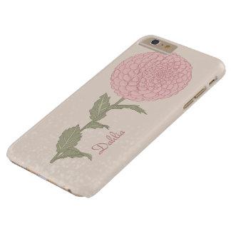 iPhone de la dalia de la flor/caso del iPad Funda Barely There iPhone 6 Plus