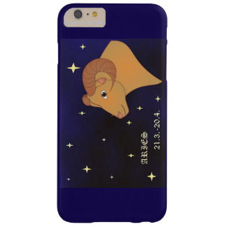 iPhone de la muestra del zodiaco del aries/caso Funda Barely There iPhone 6 Plus