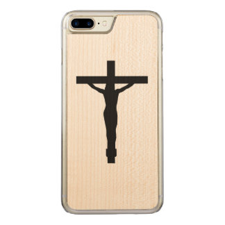 iPhone de la silueta del crucifijo Funda Para iPhone 8 Plus/7 Plus De Carved