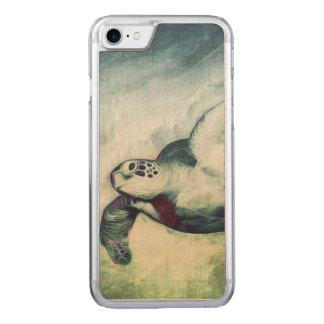 iPhone de la tortuga el | del vuelo 6/5/madera de Funda Para iPhone 8/7 De Carved