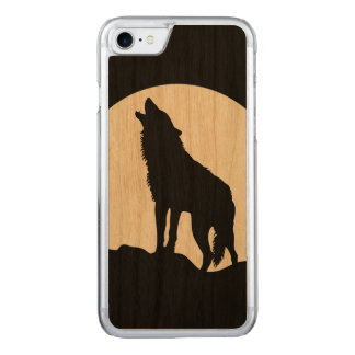 iPhone de madera 6 de la silueta del lobo del Funda Para iPhone 8/7 De Carved