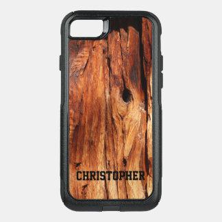 iPhone de madera 7 del viajero de OtterBox del Funda Commuter De OtterBox Para iPhone 8/7
