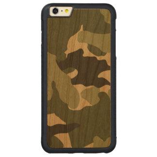 iPhone de madera fresco militar verde de Camo 6 6S