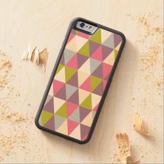 iPhone de madera geométrico retro festivo 6 Funda De iPhone 6 Bumper Arce