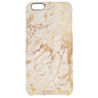 iPhone de mármol de marfil de oro blanco Clearly™ Funda Transparente Para iPhone 6 Plus