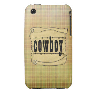 iPhone de papel 3G-3GS del vaquero del vintage iPhone 3 Case-Mate Funda