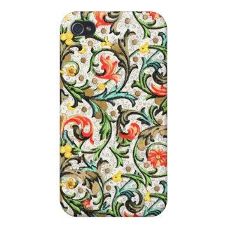 iPhone de papel del diseño floral del vintage iPhone 4/4S Funda