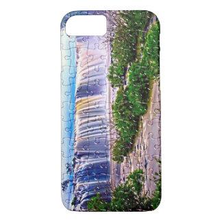 Iphone del efecto del rompecabezas de la cascada funda para iPhone 8/7