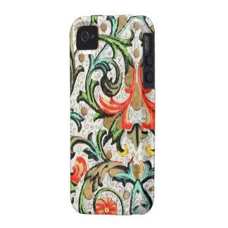 iPhone del estampado de flores del vintage Case-Mate iPhone 4 Carcasa