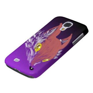 iPhone del Fox o caja oscuro del teléfono de la Carcasa Para Galaxy S4