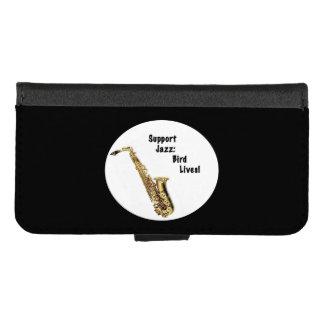 iPhone del jazz de la ayuda 8/7 caja de la cartera
