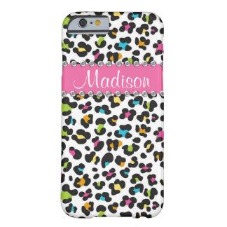 iPhone del leopardo BLING del diamante artificial Funda Barely There iPhone 6