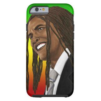 iPhone del reggae de Barack Obama Rasta Funda De iPhone 6 Tough