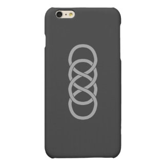 iPhone doble del infinito 6 casos mates/brillantes