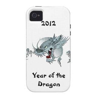 iPhone duro de la casamata 4 años del dragón Case-Mate iPhone 4 Funda