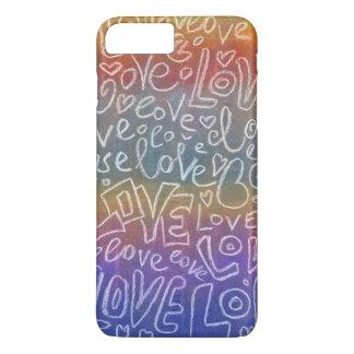 Iphone en colores pastel del arco iris del modelo funda iPhone 7 plus