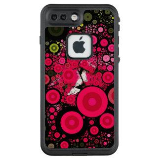 Iphone floral rojo Fre de los círculos del arte